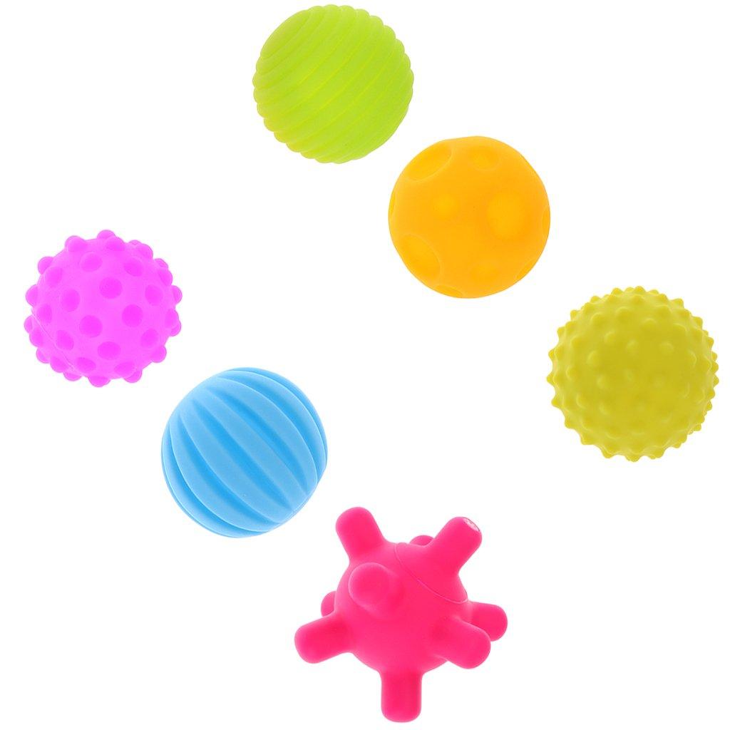 B Baosity 6pcs Balle Sensorielle Jouet dEveil Massage Boule pour B/éb/é