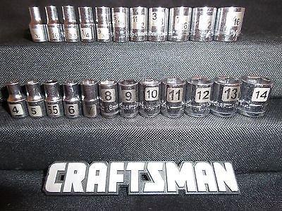 "Craftsman 23pc 1/4"" LASER ETCHED 6pt SAE Metric Sockets Set"