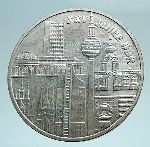 1974 unknown 1974 EAST GERMANY Vintage Antique AR Large City 1 coin Good Uncertified