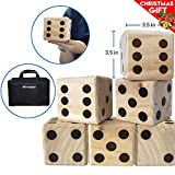 Large DICE Game – Giant Wooden Yard DICE Set – DICE Bag DICE Games Kids – Great Lawn Family Game