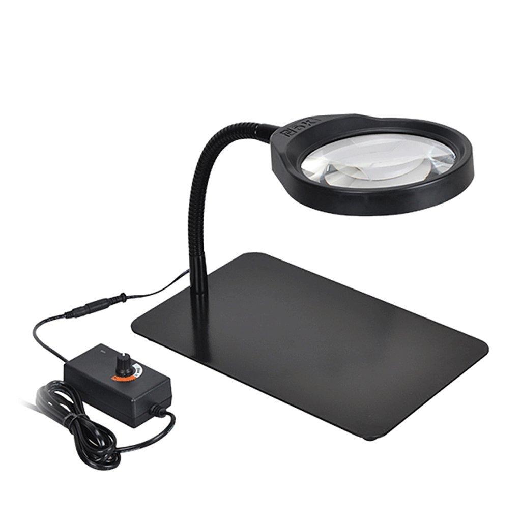 tienda de venta en línea Xiuxiushop Lupa Lupa Lupa HD Lámpara LED con lámpara 10 Veces Antigua Prueba de Lectura Reparación de teléfono Celular Lámpara de Escritorio ( Color   negro )  sin mínimo