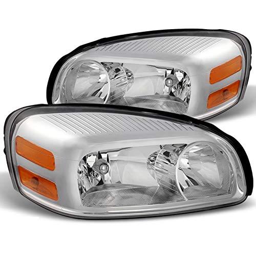 Chevy Uplander Headlight Lamp - Xtune for 2005-2009 Uplander/Montana, 2005-2007 Relay/Terraza Chrome Housing Headlights LH+RH Pair Left+Right/2006 2007 2008
