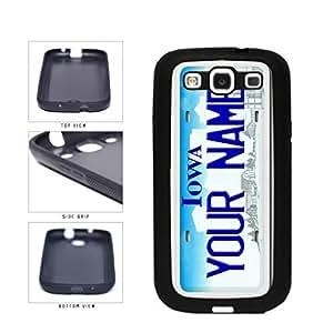 Personalized Custom Iowa License Plate TPU RUBBER SILICONE Phone Case Back Cover Samsung Galaxy S3 I9300