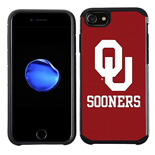 (Prime Brands Group Textured Team Color Cell Phone Case for Apple iPhone 8/7/6S/6 - NCAA Licensed The University of Oklahoma Sooners )