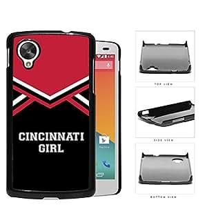 Cincinnati City Girl School Spirit Cheerleading Uniform Nexus 5 Hard Snap on Plastic Cell Phone Cover