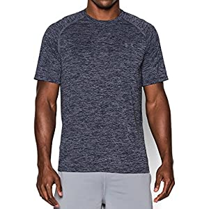 Under Armour Men's Tech Short Sleeve T-Shirt, Academy/Steel, Large
