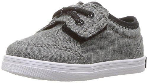 Sperry Boys' Deckfin Crib Jr Sneaker, Black Chambray, 3 Medium US Infant