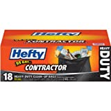 Hefty Contractor Heavy Duty Trash / Garbage Bags (Twist Tie, 55 Gallon, 18 Count, Pack of 4)