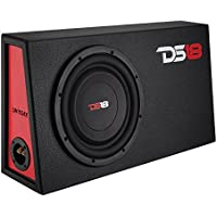 DS18 SW10S4X 10 1000W 4-Ohm Single Voice Coil Shallow Mount Subwoofer in Sealed Box