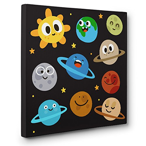 Cute Solar System CANVAS Wall Art Home Décor by Paper Blast