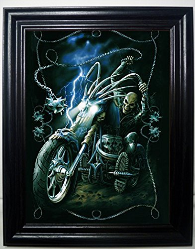 MOTORCYCLE 3D FRAMED Wall Art--Lenticular Technology Causes The Artwork To Have Depth and Move-HOLOGRAM Style Images-HOLOGRAPHIC Optical Illusions By THOSE FLIPPING PICTURES