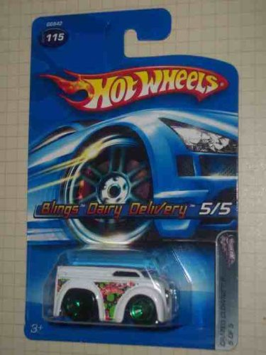 Crazed Clowns 2 Series #5 Blings Dairy Delivery #2005-115 Collectible Collector Car Mattel Hot Wheels 1:64 Scale by Hot Wheels -