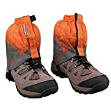 MAGARROW Gaiters Lightweight Waterproof Hiking Ankle Gaiters (Orange & Gray)