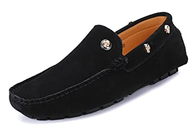 Men's Low-Top Moccasins Suede Penny Loafers Boat Driving Hiking Weekend Shoes