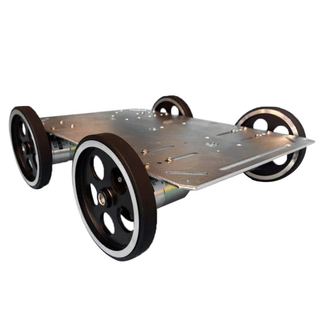 Obtén lo ultimo Homyl Chasis de Coche Smart Wheeled Large Load Load Load Control Remoto DIY Juguete Terminales Kits de Instalación Eléctrica  venta al por mayor barato