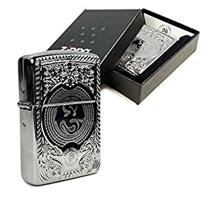 Zippo Lighter Brushed Chrome 'Anne Stokes' design