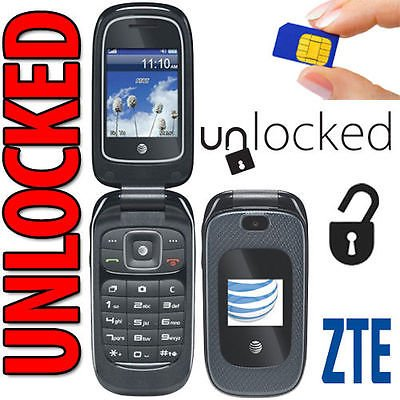 ZTE Z223 3G GSM Unlocked Flip Phone (at&t) with Camera (Not CDMA Carriers Like Sprint Verizon Boost Mobile Virgin Mobile) (Best 3g Flip Phone)