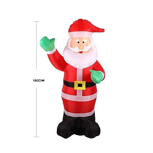 Amosfun - Muñeco de Papá Noel Hinchable (1,8 m), Color Verde ...