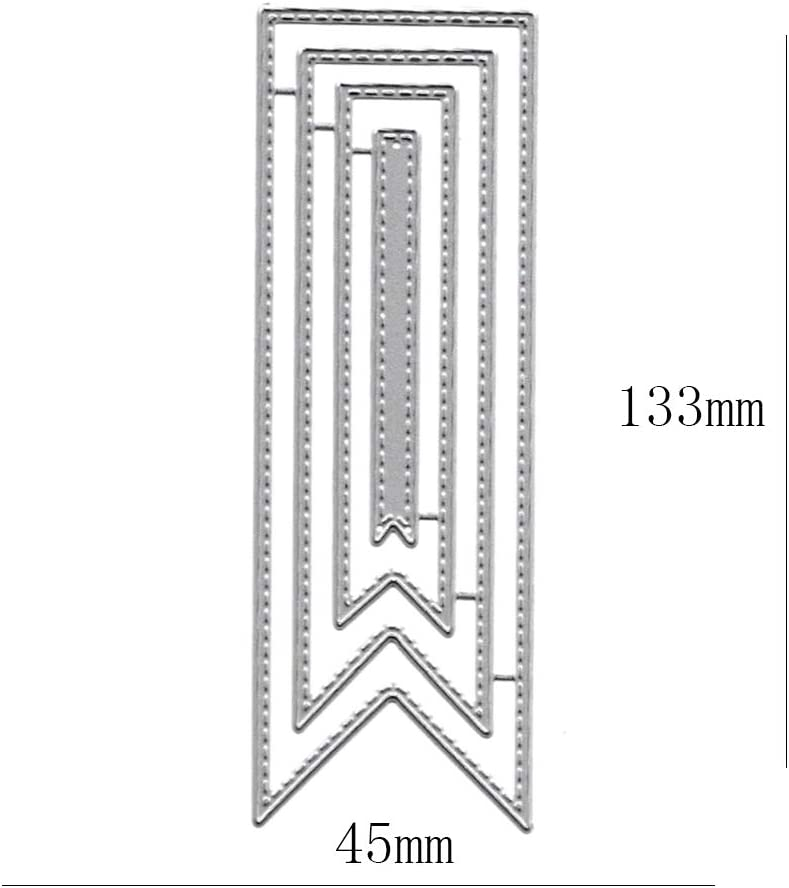 Tag Frame Metal Die Cuts Bookmark Cutting Dies Cut Stencils for DIY Scrapbooking Photo Decorative Embossing Paper Dies for Scrapbooking Card Making Supplies
