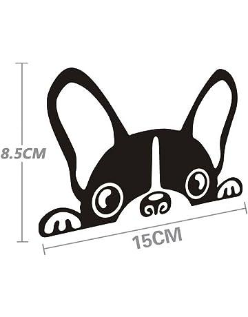 Vinilo autoadhesivo SKS Distribution con diseño de adorable cachorro de perro asomándose, ideal para carrocería