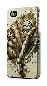 S0550 Skull Card Poker Case Cover for Iphone 4 4s by lolosakes