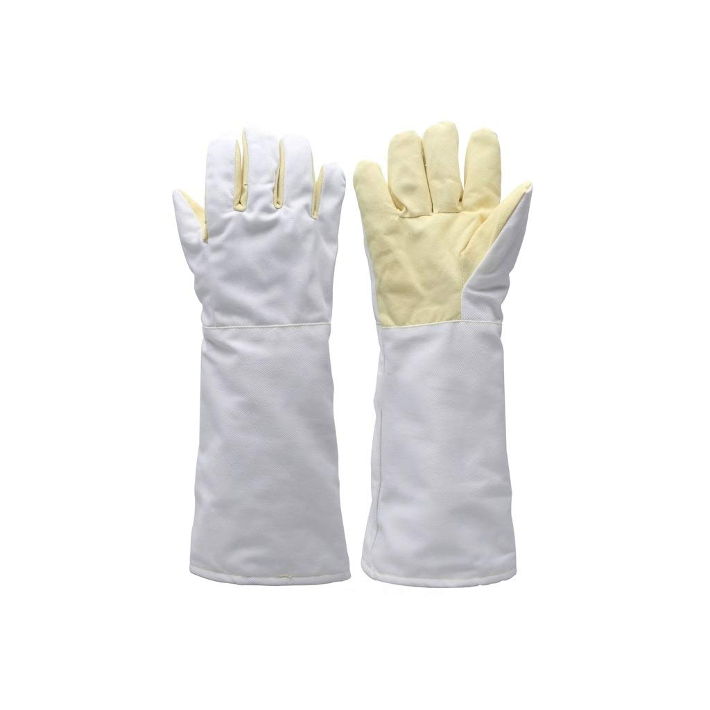 YYTLST High Temperature Resistant Gloves, High Temperature Resistant 400°C, Gloves 45 cm Long, Suitable for Oven Metal Glass Industry by YYTLST