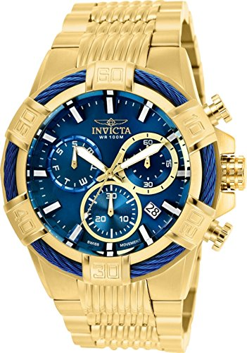 Invicta Men's Bolt Quartz Watch with Stainless-Steel Strap, Gold, 30 (Model: 25866) from Invicta