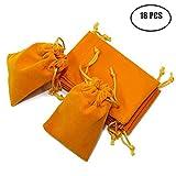 Md trade 18pcs Velvet Cloth Jewelry Pouches / Drawstring Bags 4.7'' x 3.1'' (orange)