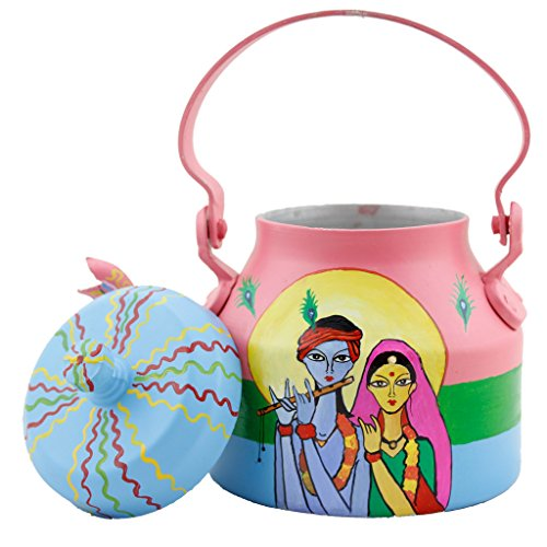 LazyBrats Hand Painted Designer Quirky Radha Krishna: The Eternal Lovers , Tea Kettle, Gift, Mom, Wife, Sister, Anniversary, Birthday, Unique, Quirky, Colorful, Funky, Design, Useful