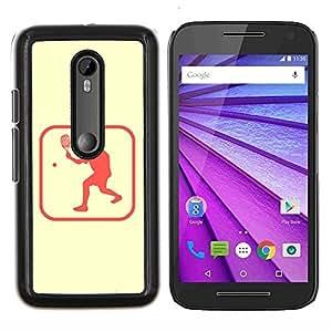 """Be-Star Único Patrón Plástico Duro Fundas Cover Cubre Hard Case Cover Para Motorola Moto G (3rd gen) / G3 ( Pong Zona Tenis"""" )"""
