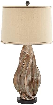 Teresa Copper Brown Modern Ceramic Table Lamp Amazon Com