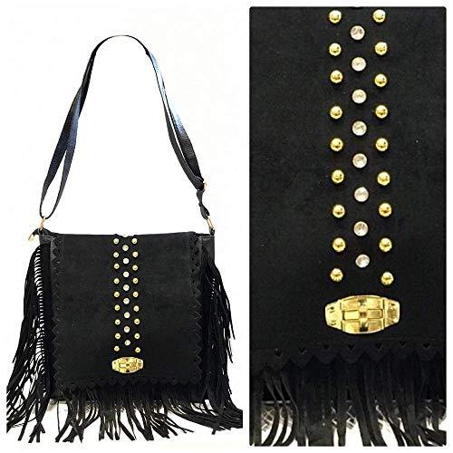 - Azzavera Women Winter 2019 Fringe Tassel Beaded Crossbody Bag Suede Shoulder Bag Hobo Handbag