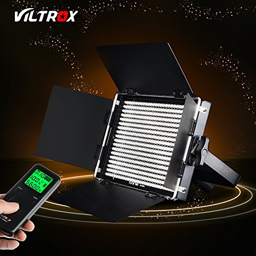 VILTROX VL-40B 40W Pro CRI 95+ 5600K Dimmable Led Video Light Panel ,540pcs LED Studio Video Continuous Light Lamp Lighting for video / photography / interview, 4200LM ,+wireless remote controller by VILTROX