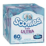 Scotties 3-Ply Facial Tissue, 60 Count (Pack of 36)