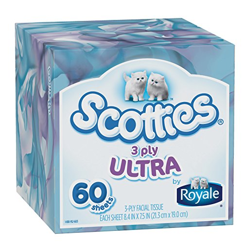 Scotties 3-Ply Facial Tissue, 60 Count (Pack of 36) by Scotties