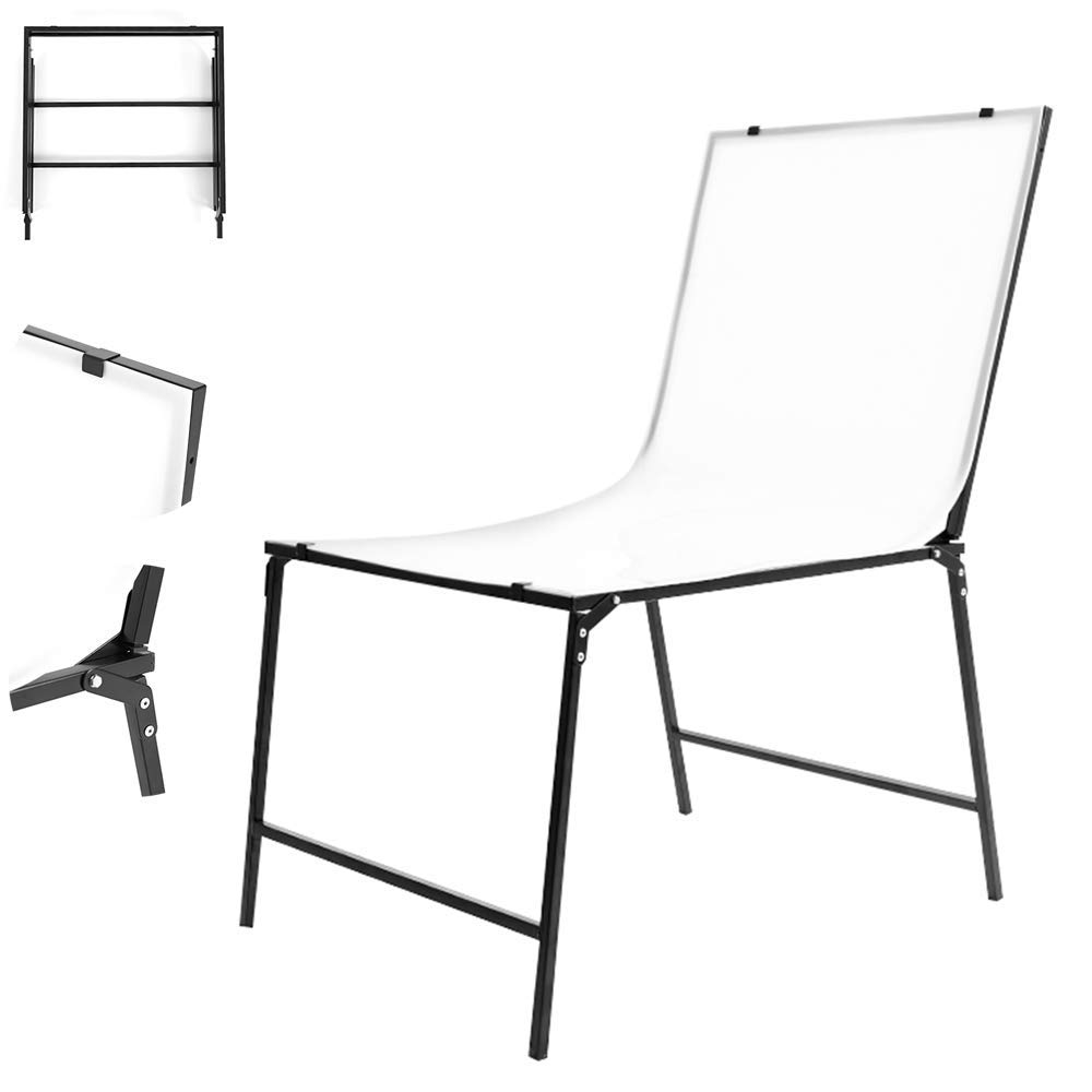 Professional Photo Studio Shooting Table, (100X200cm) Adjustable Large Still Life Studio, PVC Non-Reflective Double Panel, Suitable for Shooting Cosmetics and Other Products by PH