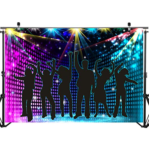 Mocsicka Ballroom Stage Party Backdrop 7x5ft Disco Party Theme Dancing to The Music Photo Backdrops Music Party Photography Background]()