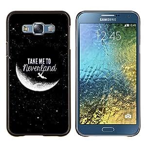 TECHCASE---Cubierta de la caja de protección para la piel dura ** Samsung Galaxy E7 E700 ** --Lléveme a Luna Cielo Cosmos Amor