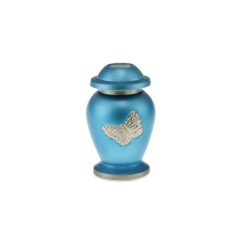 Cherished Urns Keepsake Blue Butterfly Adult Cremation Urn