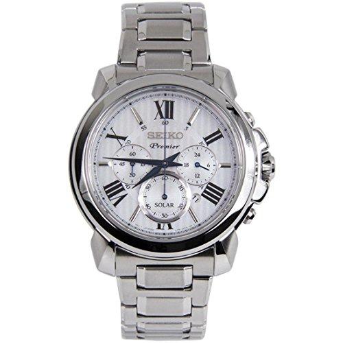 Seiko-Mens-Premier-Solar-434mm-Steel-Bracelet-Case-Sapphire-Crystal-Silver-Tone-Dial-Watch-SSC595