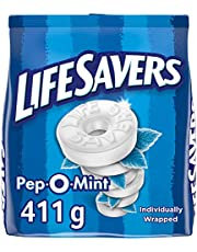 Life Savers Mints, Pep-O-Mint, Peppermint Flavoured Mints, Bag,, 411 Grams