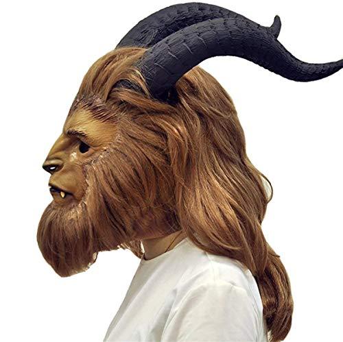 Beauty and The Beast Mask Prince Dan Stevens Cosplay Mask Helmet Wig Costume Prop (Teeth-Beast) (Beauty And The Beast Best)