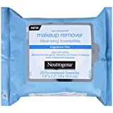 Neutrogena Cleansing Makeup Remover Cleansing Towelettes, Fragrance Free, 25 Count