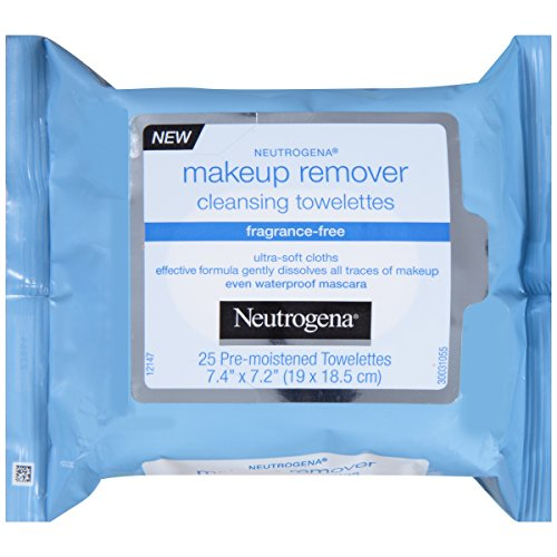 Neutrogena Fragrance-Free Make-Up Remover Cleansing Towelette, 25 Count