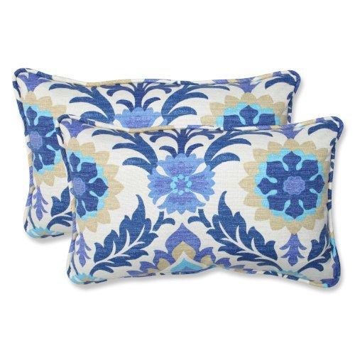 Pillow Perfect Outdoor Santa Maria Rectangular Throw Pillow, Azure, Set of 2 [並行輸入品] B07RCVB1Q6