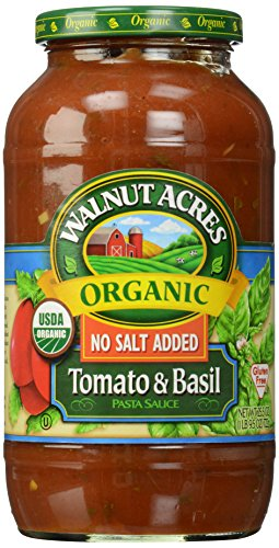 Organic Tomato Basil Pasta Sauce - Walnut Acres, Tomato & Basil Pasta Sauce, Fat Free, Low Sodium, 25.5 oz