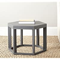 Safavieh American Homes Collection Heidi Charcoal Grey End Table