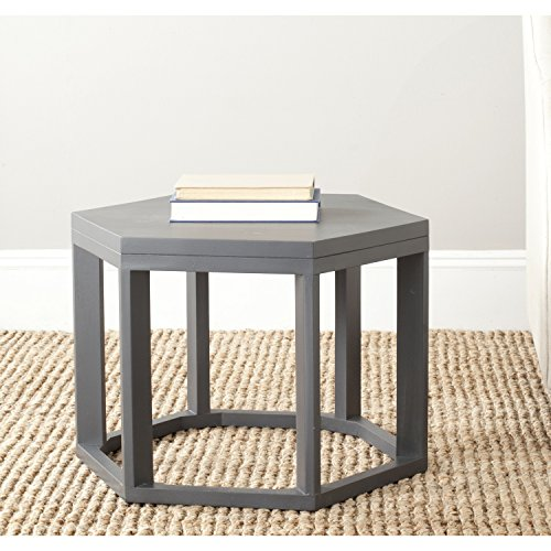 Octagon Rug Elegance (Safavieh American Homes Collection Heidi Charcoal Grey End Table)