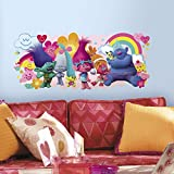 girl decals - RoomMates RMK3171GM Trolls Movie Peel & Stick Giant Wall Decals