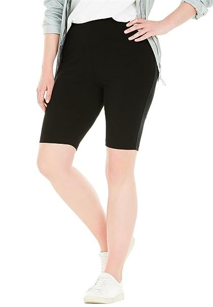 728944aa110 Amazon.com  Woman Within Plus Size Stretch Cotton Bike Short  Clothing
